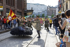 HELSINKI, FINLAND - JUNE 10, 2017: Helsinki Samba Carnaval celeb Royalty Free Stock Image