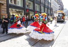 HELSINKI, FINLAND - JUNE 10, 2017: Helsinki Samba Carnaval celeb Royalty Free Stock Images
