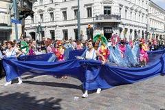 HELSINKI, FINLAND - JUNE 10, 2017: Helsinki Samba Carnaval celeb Royalty Free Stock Photography