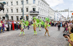 HELSINKI, FINLAND - JUNE 10, 2017: Helsinki Samba Carnaval celeb Stock Images