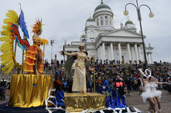 Helsinki, Finland – June 6, 2015: Traditional summer samba car Royalty Free Stock Image
