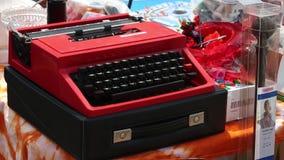 HELSINKI, FINLAND - JUNE 19, 2018: Typewriter close-up in Ahmedabad flea market.