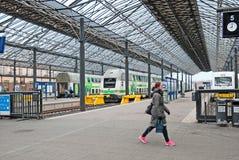 helsinki finland La stazione ferroviaria centrale Fotografia Stock Libera da Diritti