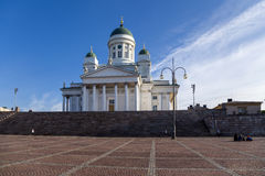 Helsinki, Finland. Lutheran Cathedral on Senate Square Royalty Free Stock Image