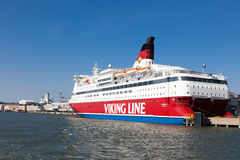 HELSINKI, FINLAND-MARCH 29: The ferry Viking Line is moored at t Stock Photos