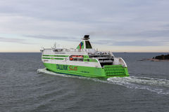 HELSINKI, FINLAND-MAY 16: the TALLINK STAR ferry sails from Hels Royalty Free Stock Photography
