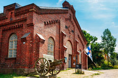Helsinki, Finland. Military Museum Manege Building On Fortress Stock Photography