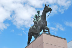 Helsinki, Finland. Monument to  Mannerheim Stock Photos