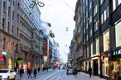 Helsinki, Finland - 17 November 2016: on city street. Royalty Free Stock Images