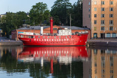 Helsinki, Finland. The old lightship Relandersgrund, 1888 Stock Photo