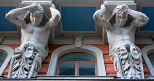 Art Nouveau architecture. HELSINKI, FINLAND SEPTEMBER 25 2015: Influenced by Classicism and modernised by Functionalism, Helsinki is also known for its Art royalty free stock photos