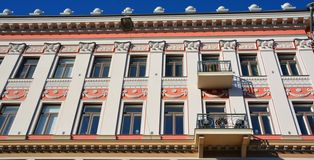 Art Nouveau architecture. HELSINKI, FINLAND SEPTEMBER 25 2015: Influenced by Classicism and modernised by Functionalism, Helsinki is also known for its Art stock photography