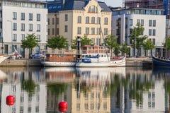 Helsinki, Finland. Ships at the pier Royalty Free Stock Photo