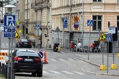 Helsinki, Finland. On the street Royalty Free Stock Photography