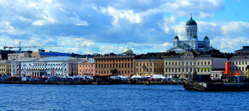Helsinki, Finland. Summer panorama of Helsinki, the capital city of Finland Stock Photo