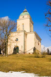 helsinki finland Suomenlinna kyrka Royaltyfri Bild