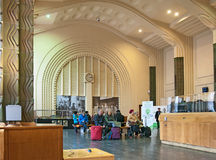 Helsinki. Finland. Ticket Hall in The Central Railway Station Royalty Free Stock Image