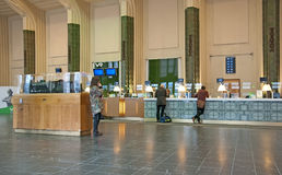 Helsinki. Finland. Ticket Hall in The Central Railway Station Stock Image