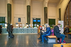 Helsinki. Finland. Ticket Hall in The Central Railway Station Royalty Free Stock Photos