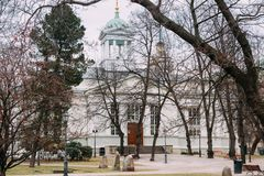 Helsinki, Finland. View Of Evangelical Lutheran Helsinki Old Church Royalty Free Stock Image