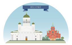 Helsinki. Finland. For you design Stock Photos