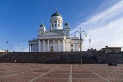 Helsinki, Finlande Cathédrale luthérienne sur la place de sénat Image libre de droits