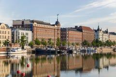 Helsinki, Finlande Navires à la couchette dans le calme complet image stock