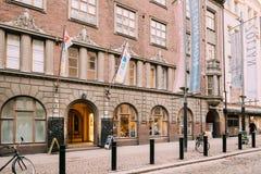 Helsinki, Finlande Porte d'entrée à Amos Anderson Art Museum Image stock