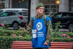 Helsinki, Finlande - 4 septembre 2018 : Collecte de fonds pour les combattants finlandais et leurs parents photographie stock