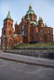 Helsinki, Finlandia Catedral de Uspenski, 1868 Fotografía de archivo