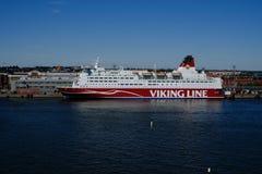Helsinki, Finlandia il traghetto Viking Line Fotografia Stock Libera da Diritti