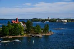 Helsinki, Finlandia l'isola di Luoto Immagine Stock Libera da Diritti