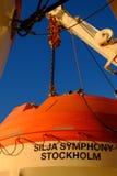 Helsinki, Finlandia la barca sulla piattaforma Silja Line Fotografia Stock