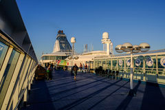 Helsinki, Finlandia, la gente sul traghetto Silja Line Immagine Stock