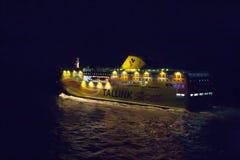HELSINKI FINLANDIA, PAŹDZIERNIK, - 25: ferryboat TALLINK cumuje przy cumowaniem w porcie miasto Helsinki, Finlandia PAŹDZIERNIK Obraz Royalty Free