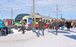 helsinki Finlandia środkowa stacji kolejowej Obrazy Royalty Free