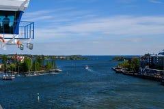 Helsinki, Finlandia Silja Line lascia il porto Immagini Stock