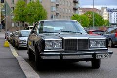 Helsinki, Finlandia Stary amerykański samochód Fotografia Royalty Free