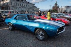 Helsinki, Finlandia Stary samochodowy Chevrolet Camaro SS 427 Zdjęcia Royalty Free