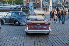 Helsinki, Finlandia Stary samochodowy Triumph Herald 13/60 Fotografia Royalty Free