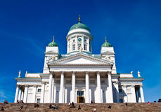 Helsinki.Finlyandiya. St. Nicholas Cathedral. Royalty-vrije Stock Foto