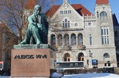 HELSINKI, FINNLAND ï ¿ ½ das März 2013: Nationales finnisches Theater mit MO Lizenzfreies Stockfoto