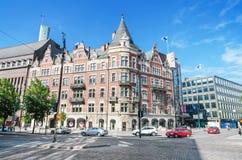 Helsinki, Finnland - 21. Juni: Stockmann-Speicher in der Mitte von Helsinki im Juni, 21 2013 Es ist das größte Kaufhaus in der Fl Lizenzfreie Stockfotos