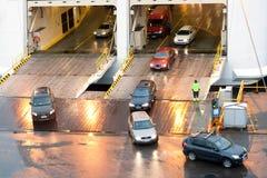 HELSINKI, FINNLAND - 25. OKTOBER: die Fähre TALLINK wird am Liegeplatz im Hafen der Stadt von Helsinki, Finnland OKTOBER festgema Stockfotografie