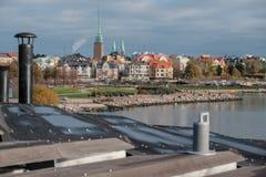 Helsinki, Finnland - 22. Oktober 2017 - Einwohner von Helsinki w Lizenzfreie Stockfotos