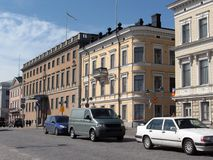 helsinki gator royaltyfria bilder