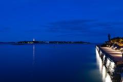 Helsinki-Hafen in der Dämmerung Stockbilder