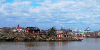 Helsinki-Hafenküstenlinie Lizenzfreie Stockbilder