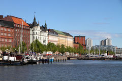 Helsinki harbor, Finland in summer Royalty Free Stock Images
