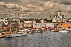 Helsinki Harbor. View of Helsinki Harbor, Helsinki, Finland from cruise ship royalty free stock image